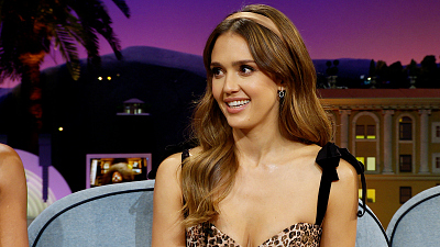 The Late Late Show with James Corden - Jessica Alba's Dad & Husband First Met Over Very Intense Golf