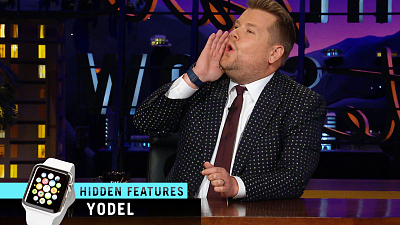 The Late Late Show with James Corden - Apple Watch Hidden Features - Yodel, Flute & Oprah Modes