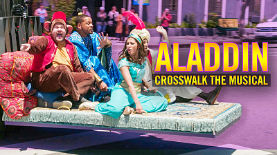 The Late Late Show with James Corden - Crosswalk the Musical: Aladdin ft. Will Smith, Naomi Scott & Mena Massoud