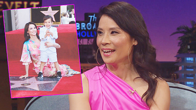 The Late Late Show with James Corden - Lucy Liu's Mother Had an Interesting Response to Lucy's Walk of Fame Star