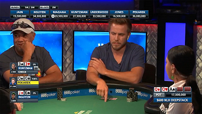 World Series of Poker - WSOP - $600 NLH Deepstack - Jeremy Pekarek strikes gold on the flop