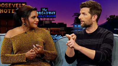 The Late Late Show with James Corden - Adam Scott & James Assure Mindy Kaling Life After 40 is Chill