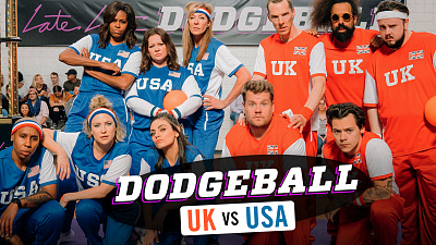The Late Late Show with James Corden - Team USA v. Team UK - Dodgeball w/ Michelle Obama, Harry Styles & More - #LateLateLondon
