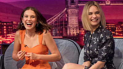 The Late Late Show with James Corden - Millie Bobby Brown & Lily James Spice Up Their Lives - #LateLateLondon