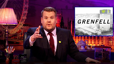 The Late Late Show with James Corden - James Corden Talks About Grenfell Tower