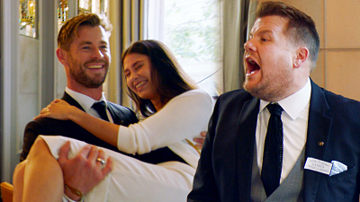 The Late Late Show with James Corden - Chris Hemsworth v. James Corden - Battle of the Waiters - #LateLateLondon