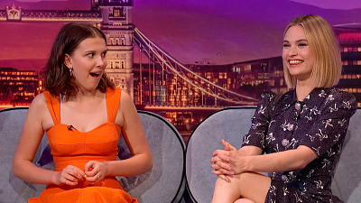 The Late Late Show with James Corden - Lily James & Millie Bobby Brown Are Very Superstitious - #LateLateLondon