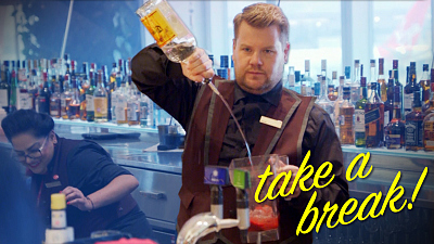 The Late Late Show with James Corden - Take a Break - Virgin Atlantic Clubhouse - #LateLateLondon