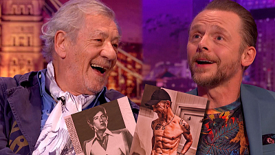 The Late Late Show with James Corden - Hot Ian McKellen & Hot Simon Pegg Are Head Turners