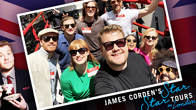 The Late Late Show with James Corden - 'Dark Phoenix' Cast Tours London in a Double Decker - #LateLateLondon