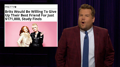 The Late Late Show with James Corden - How Much Would You Sell Your Best Friend For?