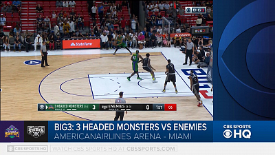 BIG3 Basketball - BIG3 Highlight: Enemies vs 3 Headed Monsters
