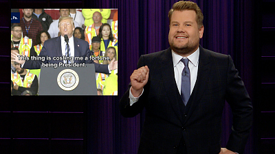 The Late Late Show with James Corden - Being President Is Somehow Costing Trump Billions
