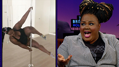 The Late Late Show with James Corden - Nicole Byer Can Dominate a Pole Dance