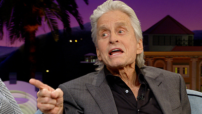 The Late Late Show with James Corden - Do NOT Block Michael Douglas' View at a Lady Gaga Show
