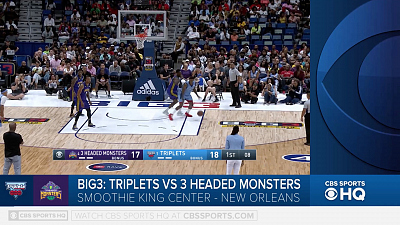 BIG3 Basketball - BIG3 highlight- Triplets vs. 3 Headed Monsters