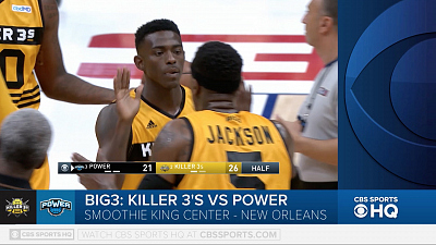 BIG3 Basketball - BIG3 highlight- Killer 3's vs. Power