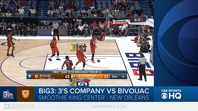 BIG3 Basketball - BIG3 highlight- 3's Company vs. Bivouac