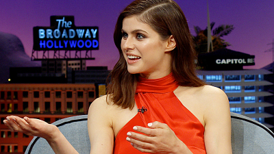 The Late Late Show with James Corden - Meghan Markle Ruined Alexandra Daddario's Top Yoga Spot