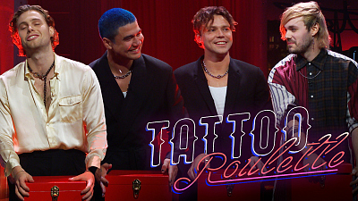 The Late Late Show with James Corden - Tattoo Roulette w/ 5 Seconds of Summer