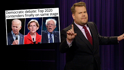 The Late Late Show with James Corden - Way Too Many Democrats Debated Again