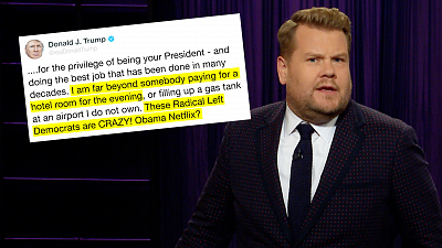 The Late Late Show with James Corden - (Thanks) Obama Netflix