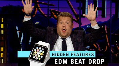 The Late Late Show with James Corden - Apple Watch Hidden Features: Melon & Gong Modes