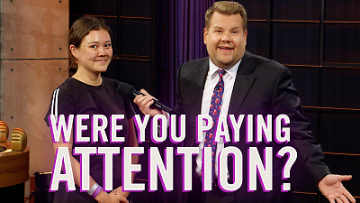 The Late Late Show with James Corden - Were You Paying Attention