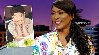 The Late Late Show with James Corden - Angela Bassett Celebrated with a Broccoli Cake