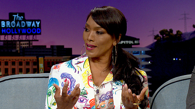 The Late Late Show with James Corden - Angela Bassett Gave Her Twins Texting Machines