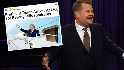 The Late Late Show with James Corden - LA Gives President Trump a Protest Fit for Hollywood