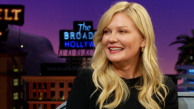 The Late Late Show with James Corden - Kirsten Dunst's First Kiss was Normal, and Not Brad Pitt