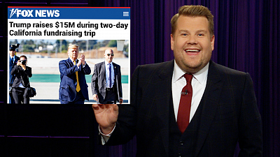 The Late Late Show with James Corden - President Trump Left California with a Lot of Cash
