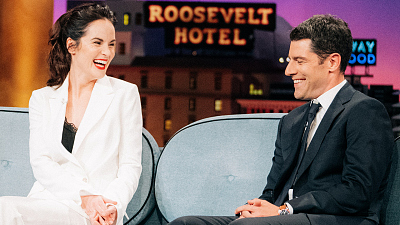 The Late Late Show with James Corden - Michelle Dockery & Max Greenfield Are Very Different DJs