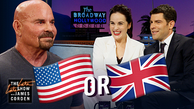 The Late Late Show with James Corden - Michelle Dockery & Max Greenfield Guess: UK or US?