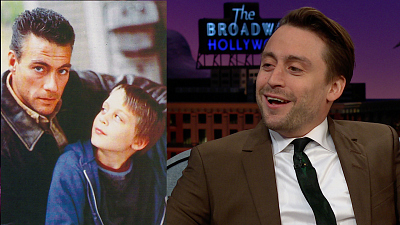 The Late Late Show with James Corden - 9-Year-Old Kieran Culkin Shared the Screen w/ JCVD