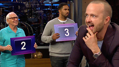 The Late Late Show with James Corden - Can Aaron Paul Tell Aarons from Pauls?