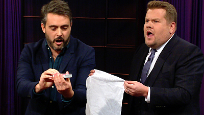 The Late Late Show with James Corden - Audience Member Upstages James Corden's Magic Trick