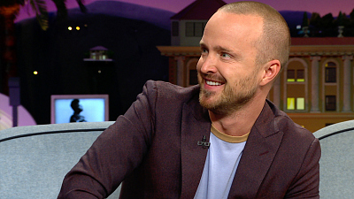 The Late Late Show with James Corden - Aaron Paul Has Gotten Hate Mail