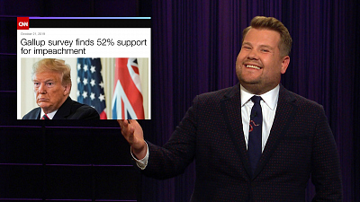 The Late Late Show with James Corden - 52% of You Are Ready for Some Impeachment!