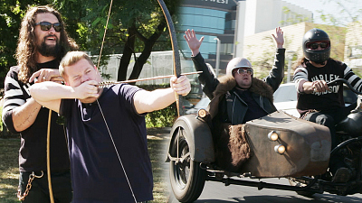 The Late Late Show with James Corden - 2 Hours Off w/ Jason Momoa - Whips, Arrows & Motorcycles