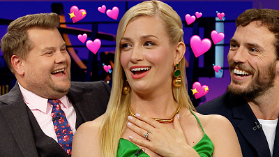 The Late Late Show with James Corden - Beth Behrs' British Fantasies Come True With Sam Claflin & James Corden