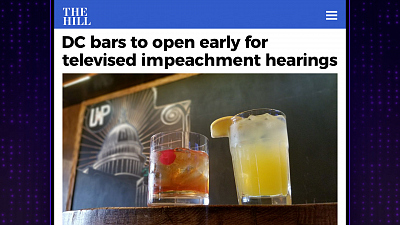 The Late Late Show with James Corden - Early Morning Impeachment Viewing Parties Are DC's Hottest New Trend