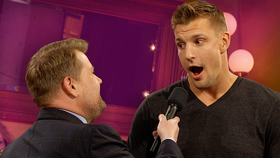 The Late Late Show with James Corden - James Corden Pressures Gronk to Make NFL Return