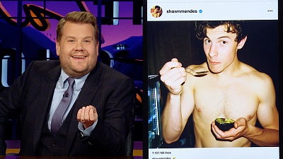The Late Late Show with James Corden - Celebrity Instagram: Shawn Mendes, Gigi Hadid
