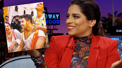 The Late Late Show with James Corden - Lilly Singh Gave Nick Jonas a FULL Tumeric Scrub