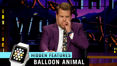 The Late Late Show with James Corden - Apple Watch Hidden Features: Balloon Animals