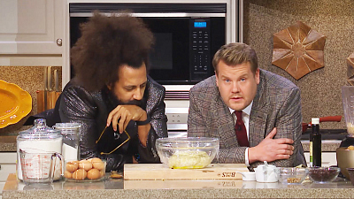 The Late Late Show with James Corden - Reggie Watts Teaches James Corden a Thanksgiving Recipe