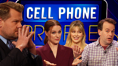 The Late Late Show with James Corden - Cell Phone Profile w/ Evan Rachel Wood, Mike Birbiglia & Melissa Benoist