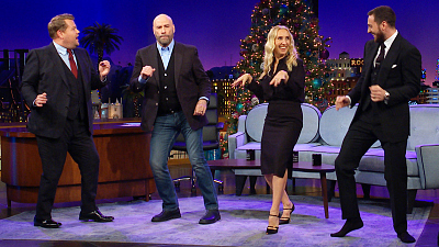 The Late Late Show with James Corden - John Travolta Takes Us to 'Pulp Fiction' Dance Class